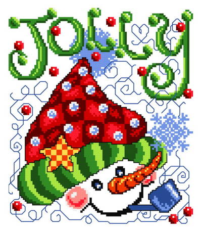 cross stitch pattern Jolly Hat