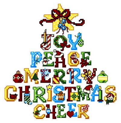 cross stitch pattern Joy Tree
