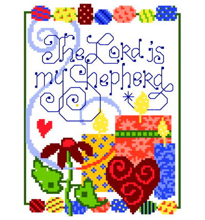 cross stitch pattern Lord is my Shepherd