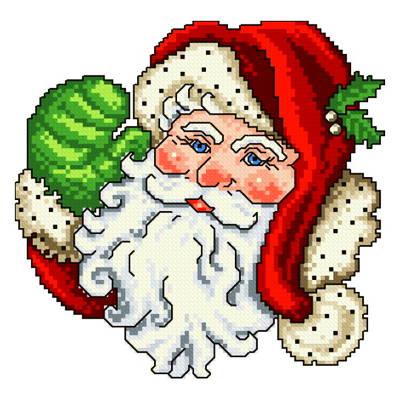 cross stitch pattern Mr. Claus
