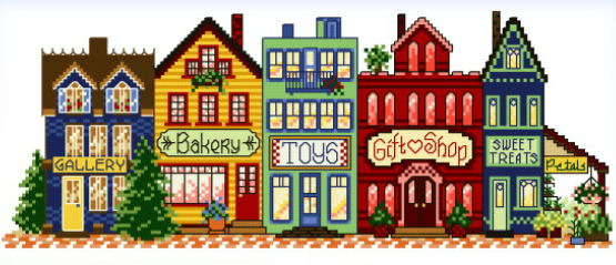 cross stitch pattern Main Street Everyday