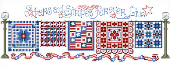 cross stitch pattern Stars n Strips