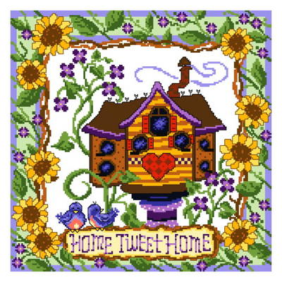 cross stitch pattern Tweet Home