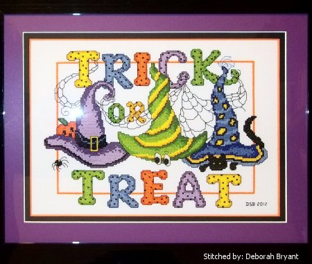 cross stitch pattern Witches Hats 3