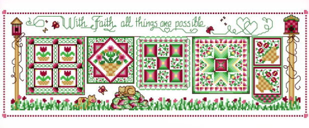cross stitch pattern With Faith