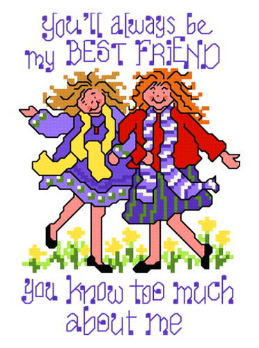 cross stitch pattern Best Friends