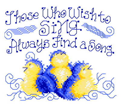 cross stitch pattern Find a Song