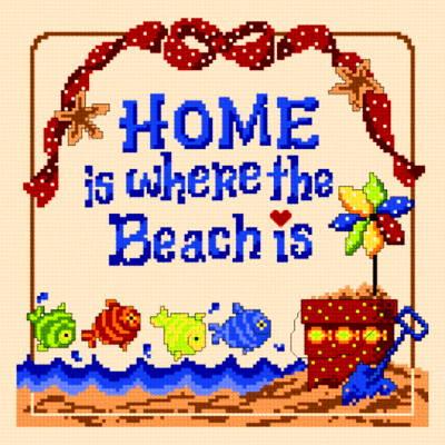 cross stitch pattern Beach is Home