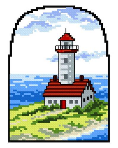 cross stitch pattern Lighthouse 1