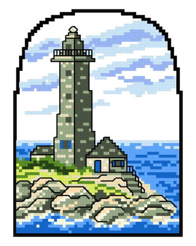 cross stitch pattern Lighthouse 2