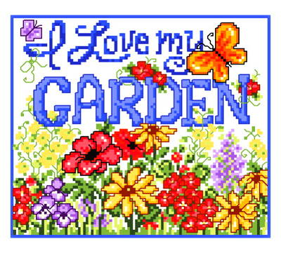 cross stitch pattern My Garden