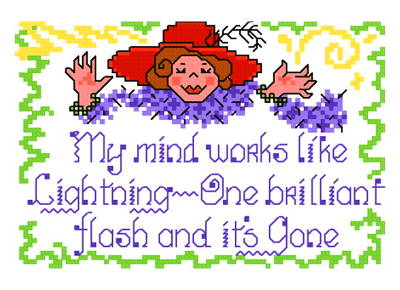 cross stitch pattern My Mind