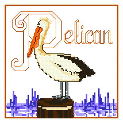 cross stitch pattern Pelican