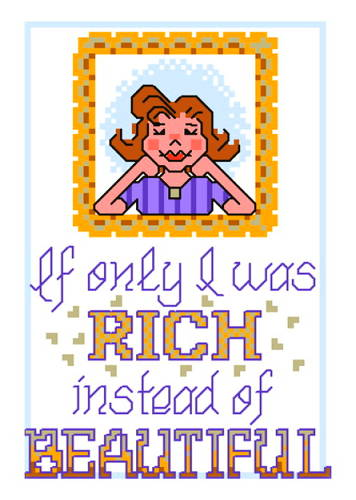 cross stitch pattern Rich