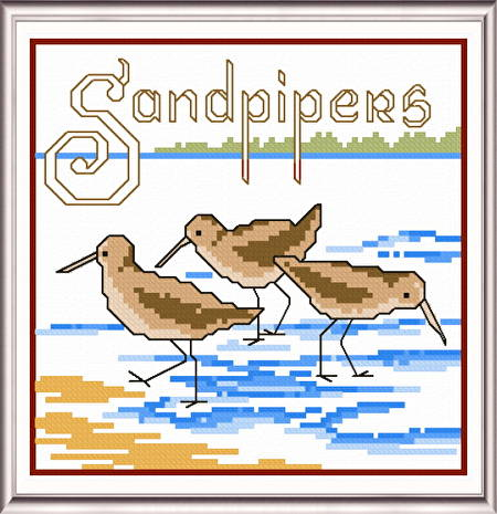 cross stitch pattern Sandpipers