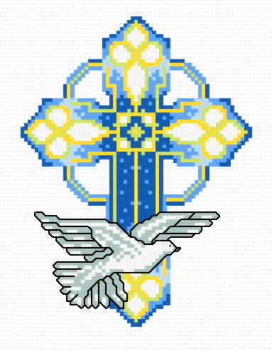 cross stitch pattern Stain Glass Cross