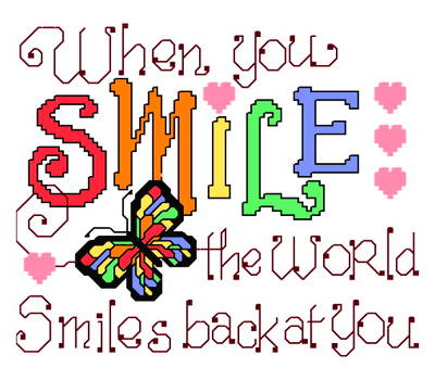 cross stitch pattern Smile at the World