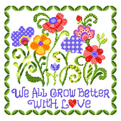 cross stitch pattern Spring Dance