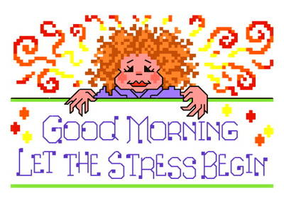 cross stitch pattern Stress