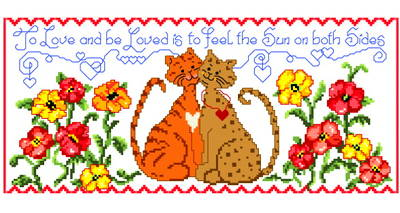 cross stitch pattern Sun on Both Sides