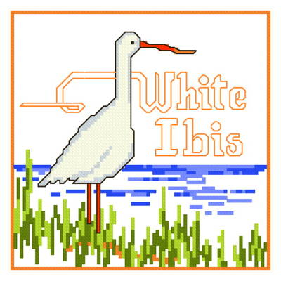 cross stitch pattern White Ibis
