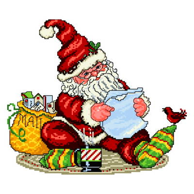 cross stitch pattern Wish Lists for Santa