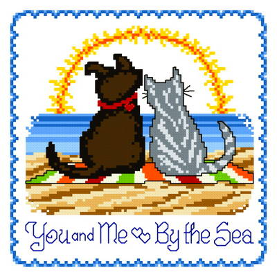 cross stitch pattern You and Me by the Sea