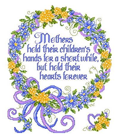 cross stitch pattern A Mother's Hand
