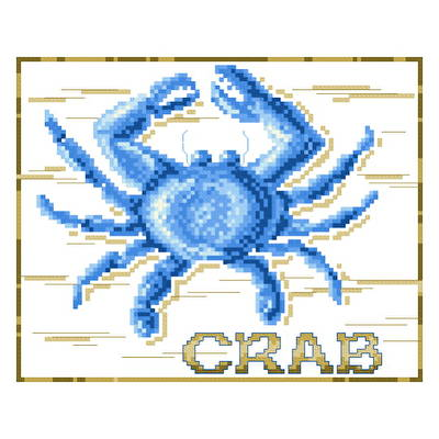 cross stitch pattern Blue Crab