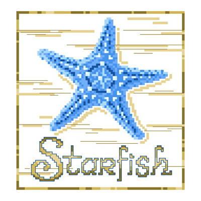 cross stitch pattern Blue Starfish