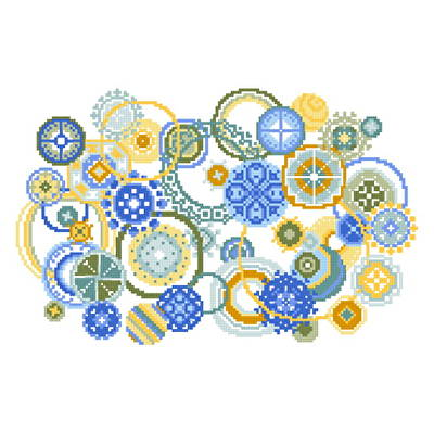 cross stitch pattern Bubbles