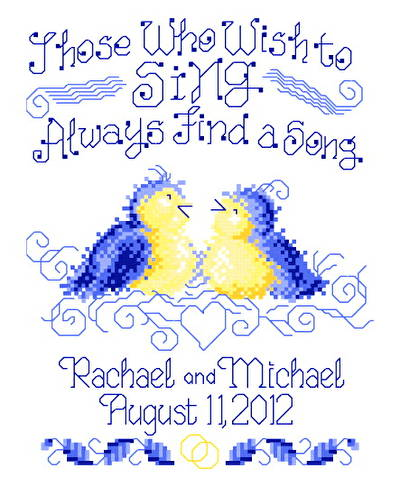 cross stitch pattern Find A Song Wedding