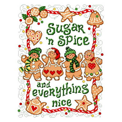 cross stitch pattern Gingerbread