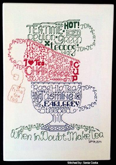 cross stitch pattern Let's do Tea