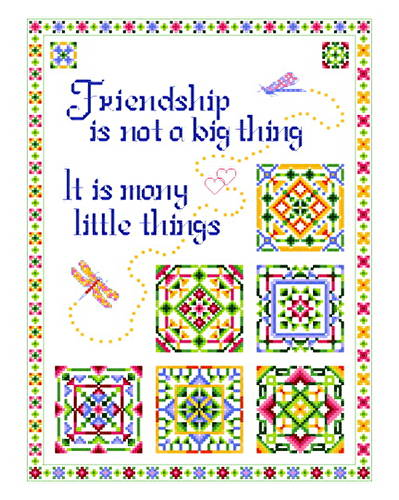 cross stitch pattern Little Things Quilt