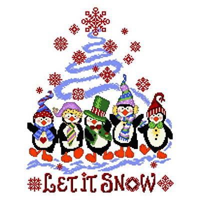 cross stitch pattern Penguin Holiday