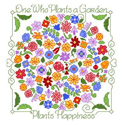 cross stitch pattern Plant Happiness