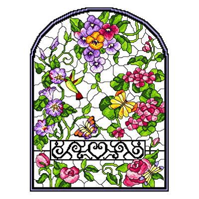 cross stitch pattern Stain Glass Summer