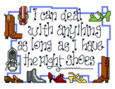 cross stitch pattern Shoes