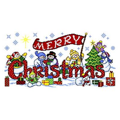 cross stitch pattern Snowy Christmas Friends