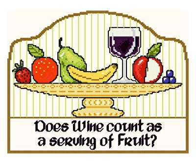cross stitch pattern Serving of Fruit