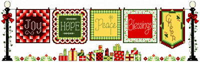 cross stitch pattern 5 Joyous Quilts