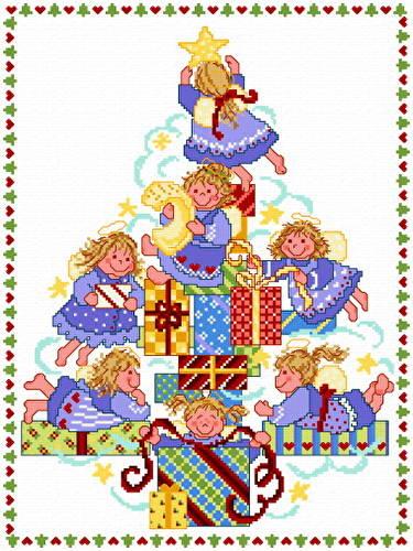 cross stitch pattern Angel Babies