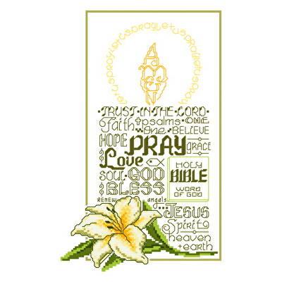 cross stitch pattern Let's Pray