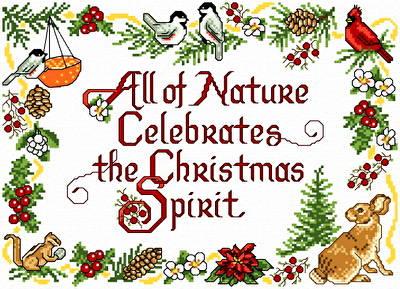 cross stitch pattern Nature's Christmas