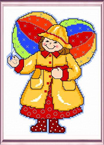cross stitch pattern April Angel