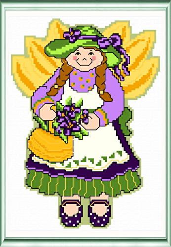 cross stitch pattern May Angel