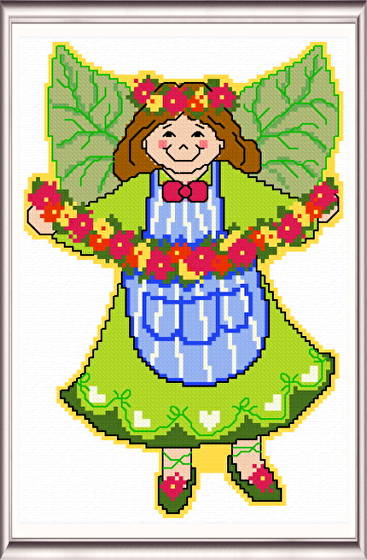cross stitch pattern June Angel