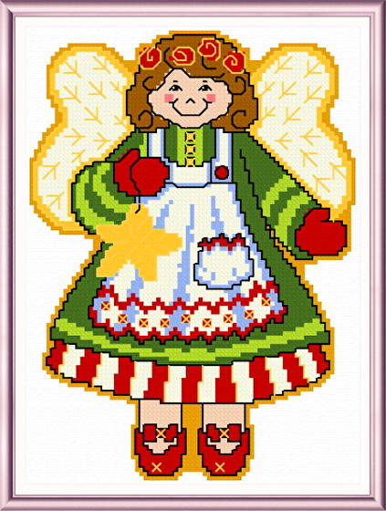 cross stitch pattern December Angel