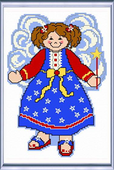 cross stitch pattern July Angel